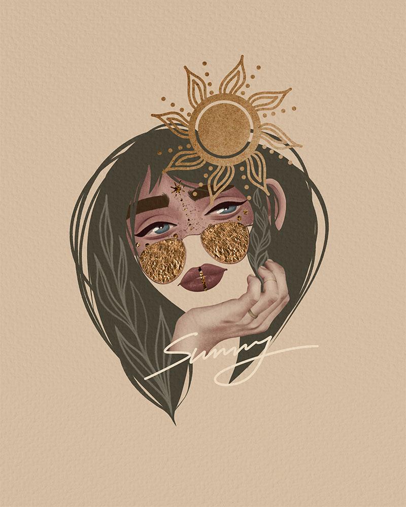Boho collage by Natalia Kodi